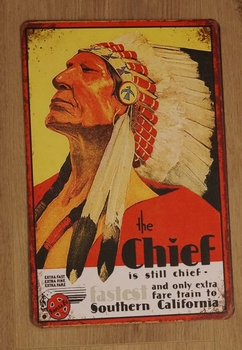 """Billboard  """" Chief is still chief and only extra fare ... """""""