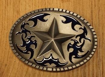 "Buckle  "" Texas ster ""  nikkelkleurig"