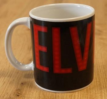 """Beker  """" Elvis Presley  """"  rood / zwart"""