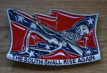 "Buckle / gesp  "" The south shall rise again """