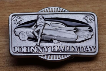 """Buckle  """" Johnny Hallyday slagschip met vleugels """""""