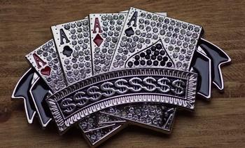 """Belt buckle  """" 4 azen poker kaarten  """""""