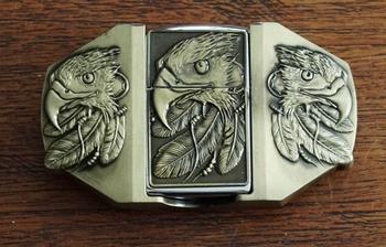 """Belt buckel with lighter """" Adelaarshoofd """""""