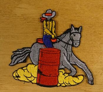 """Applicaties  """" Cowboy op paard  """"  rechts"""