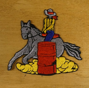 "Applicaties  "" Cowboy op paard  ""  links"
