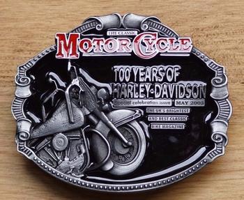 "Buckle  "" 100 years of Harley Davidson """