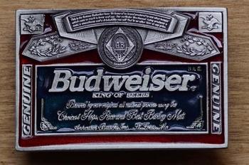 """Buckle  """" Budweiser king of beer """""""