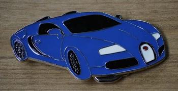 "Buckle / gesp  "" Blauwe auto """