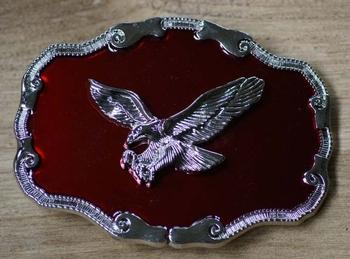 """Siergesp  """"Vliegende adelaar  """"  Rood / zilver"""