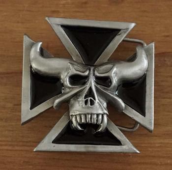 "Belt buckle  "" Maltezer kruis met duivelskop """