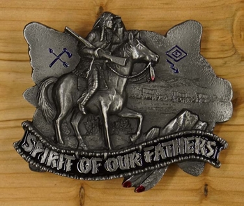 """Buckle / gesp  """" Spirit of our fathers """""""