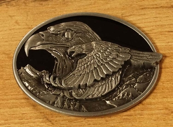 """Buckle  """" Vliegende adelaar """"  Zilver / goud  UITVERKOCHT"""