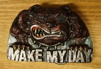 "Humor gesp  "" Make my day ""  Hond"