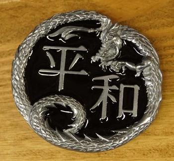 """Buckle / gesp  """" Keltische teken met draak """""""