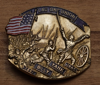 "Buckle  ""  1861 - 1865 Billy Yank, The flaf of union """