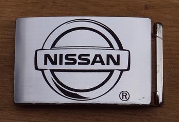 """Automerk buckle  """"  Nissan """"  Zilverkleurig"""