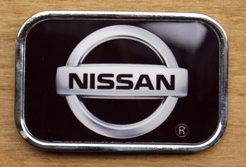 "Automerk buckle  ""  Nissan ""  Zwart"