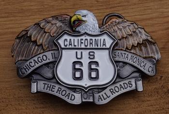 "Buckle / gesp "" California route 66 """