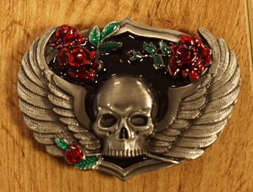 """Belt buckle  """" Skulls bone """"   zilver- / goudkleurig"""