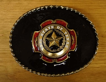 "Buckle "" The state of Texas ""   Achtergrond zwart"