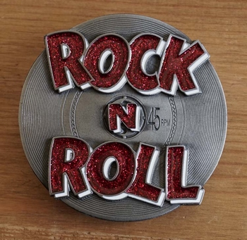 """Buckle """" Rock and Roll """"  rood"""