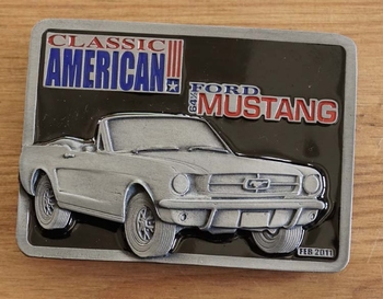 "Buckle  "" Classic American Ford Mustang 61 """