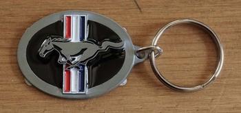 "Sleutelhanger  "" Mustang ""  paard  ovaal"