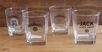 "4 stuks Whiskeyglazen "" Jack Daniels """