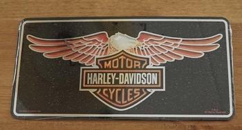 """Nummerplaat   """" Harley Davidson Cycles """"  adelaar"""