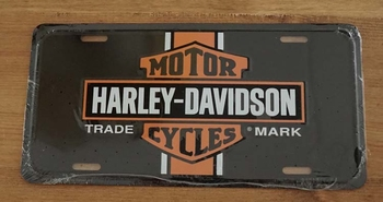 "Nummerplaat   "" Harley Davidson Cycles "" Trade mark"