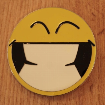 "Buckle  "" Breed lachende smiley """