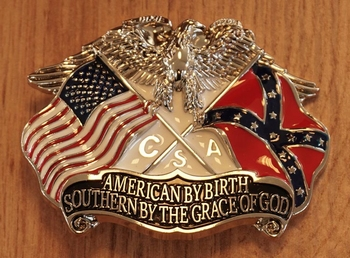 """Buckle """" American by birth, southern by the """""""