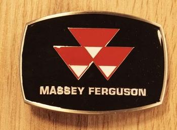 "Buckle  ""  Massey Fergsuson '  zwart / rood"