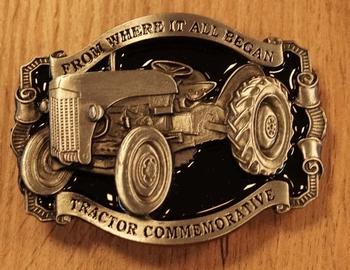 """Buckle  """" Tractor commemorative """"  nikkel / zwart"""