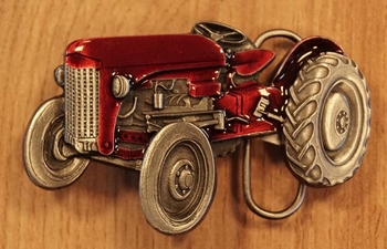 """Buckle  """" Tractor """"  rood"""