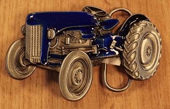 """Buckle  """" Tractor """"  blauw"""