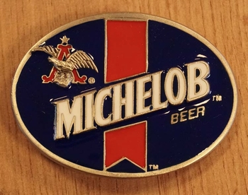 "Buckle "" Michelob beer ""  blauw / rood"