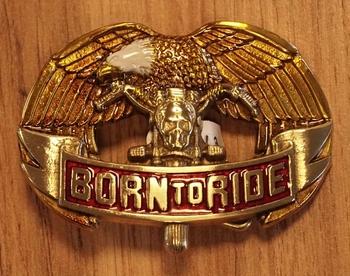 """Buckle  """" Born to ride """"  Adelaar   goudkleurig"""