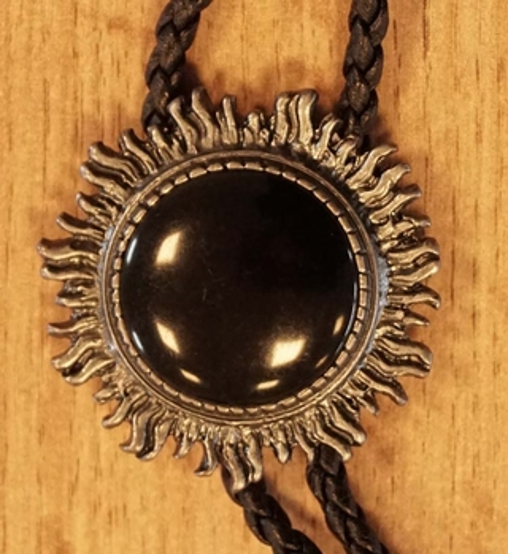 "Bolo tie  "" Zwarte steen """