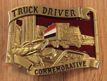 """Belt buckle """" Vrachtwagen met Nederlandse vlag"""""""