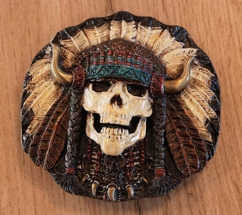 "Belt buckle "" Doodshoofd indianentooi """