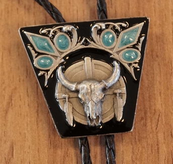 """Bolo te """" Stieren schedel met turqouise decoratie """""""