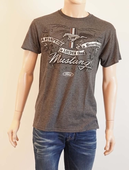 """T-shirt  """" Ford Mustang á stampede is louder than a .... """""""