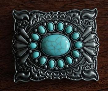 """Buckle """" Sierwerk + turquoise stenen """""""