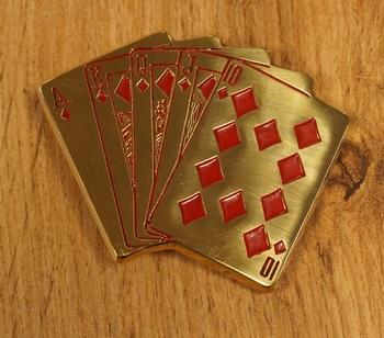 "Buckle "" Pokerhand ""  goudkleurig"