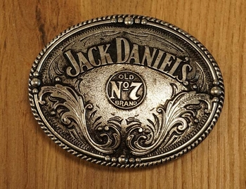 "Sterling zilveren buckle  "" Jack Daniel old no 7 brand """