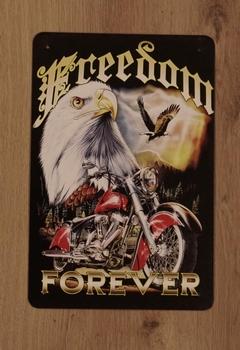 """Billboard """" Freedom forever """" adelaar met motor"""