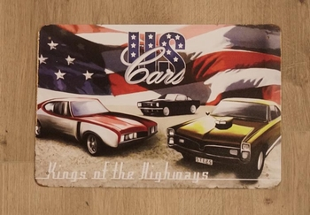 """Billboard  """" USA cars,  King of the highways """""""