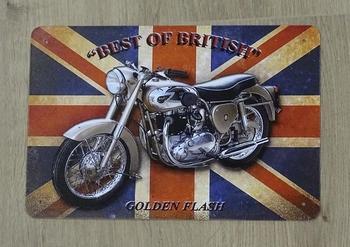 """Billboard """" Best of Britisch gold flash """" motor"""