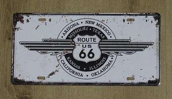 """Billboard """" Route 66 """" Arizona, New Mexico, California"""